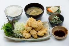 若鶏のとり天定食 750円(単品 550円)